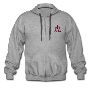 ZIP HOODIE (GREY) - Men's Premium Hooded Jacket