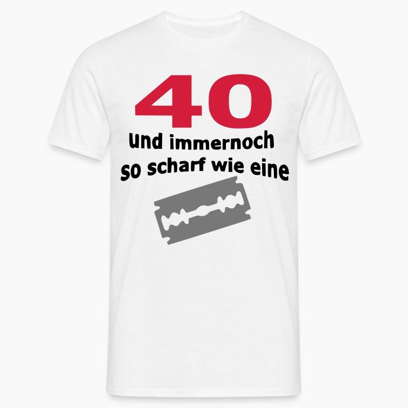 pics photos wei zum 40 geburtstag ein shirt 40 na und langarmshirts. Black Bedroom Furniture Sets. Home Design Ideas