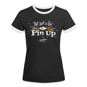 Not Just a Girl but Pin Up - T-shirt contraste Femme