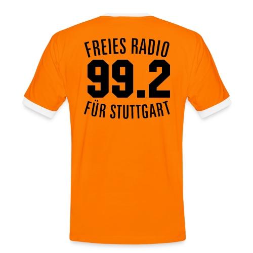 FRS Trikot, Rückennummer 99.2 + Logo (Kontrast T-Shirt, Männer) - Männer Kontrast-T-Shirt