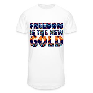 FreedomGold.etnk.wht - T-shirt long Homme