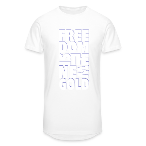 freedomGold-ombr-wht - T-shirt long Homme