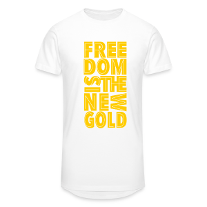 freedomGold-Gold-wht - T-shirt long Homme