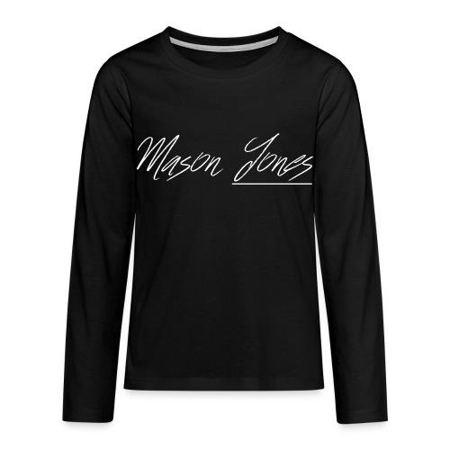 Long Sleaved Signature Mason Jones Logo - Teenagers' Premium Longsleeve Shirt