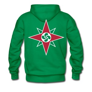 Basque star 08 - Sweat-shirt à capuche Premium pour hommes