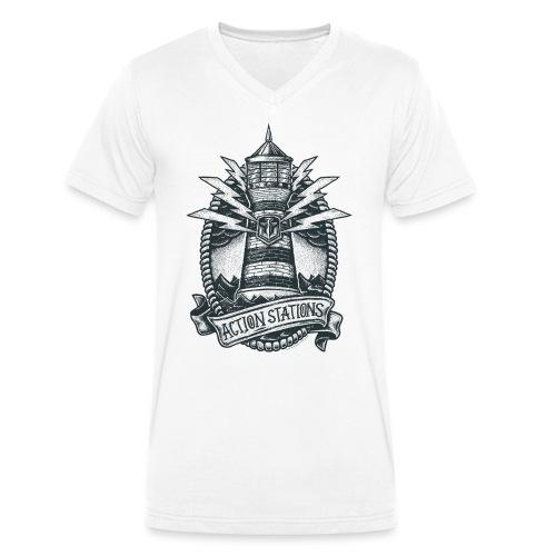 Lighthouse Collection - Men's V-Neck T-Shirt - Men's Organic V-Neck T-Shirt by Stanley & Stella