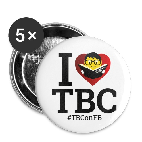 Large TBC Badges x 5 - Buttons large 2.2''/56 mm (5-pack)