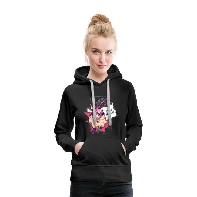 Women's Hoodie: Free Hugs (dark clothing)