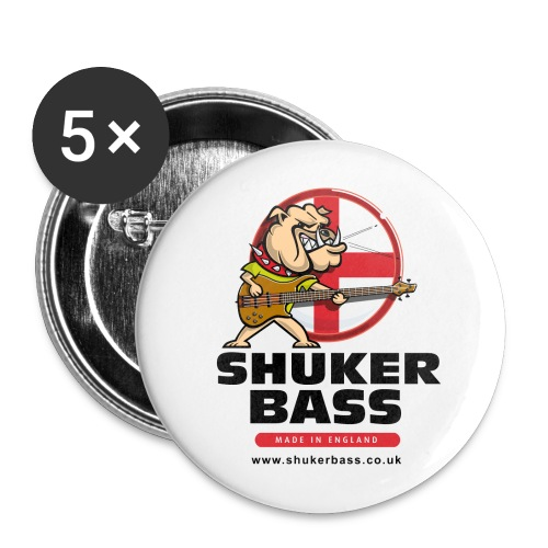 Shuker Bulldog Badges - Buttons large 2.2''/56 mm (5-pack)
