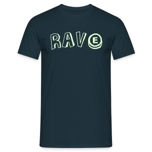 Glow in the dark Rave with an E - Men's T-Shirt