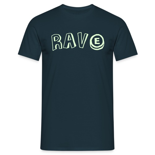 Rave with an E tablet - Men's T-Shirt