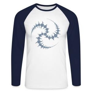 Kornkreis / Cropcircle (silver) - Männer Baseballshirt langarm