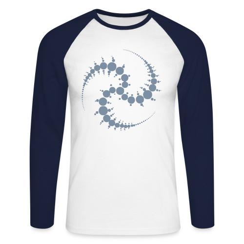 Cropcircle / Kornkreis - Baseballshirt (silver) - Männer Baseballshirt langarm