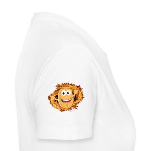 Damenshirt - weiß - Logo on Schulter - Frauen Premium T-Shirt