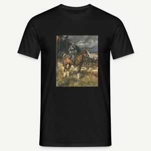 Piłsudski na kasztance (czarna) - Koszulka męska