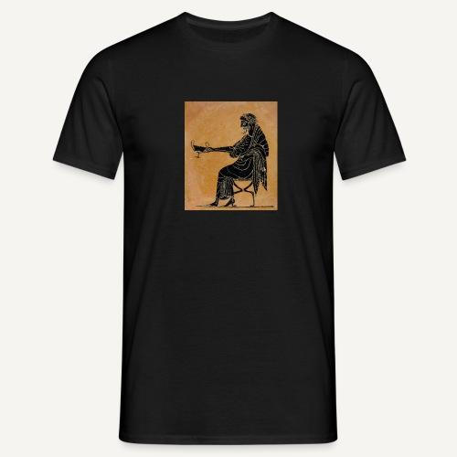 Malarstwo czarnofigurowe (czarna) - Koszulka męska