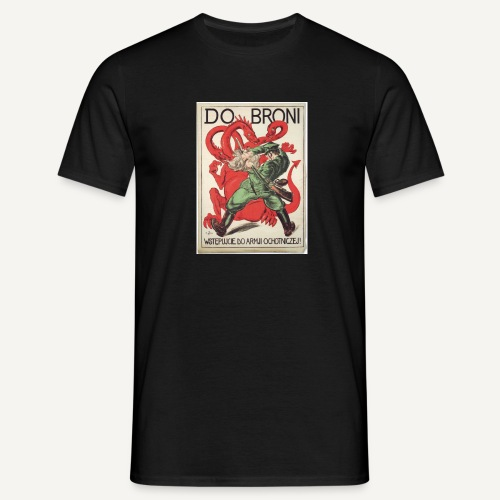 Do broni! (czarna) - Koszulka męska