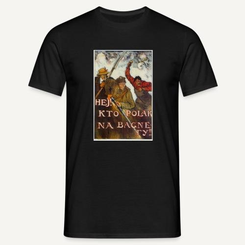 Hej kto Polak, na bagnety! (czarna) - Koszulka męska