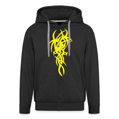 Style schw-gelb - Männer Premium Kapuzenjacke