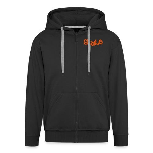 Style schw-orange - Männer Premium Kapuzenjacke