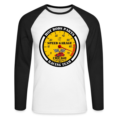 Hot Rods Parts - Men's Long Sleeve Baseball T-Shirt