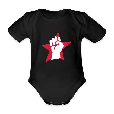 Black fist faust Baby Bodysuits