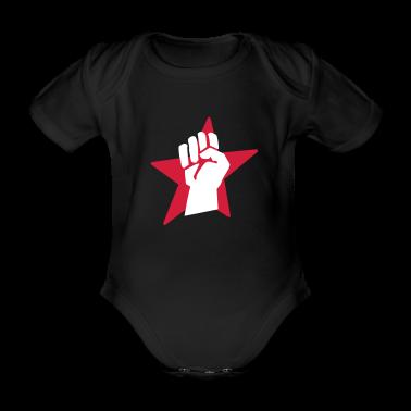 Black fist faust Baby Bodysuits