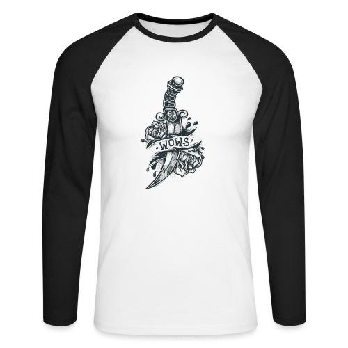 Knife Collection - Men's Baseball Longsleeve Shirt - Men's Long Sleeve Baseball T-Shirt