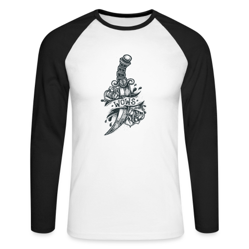 Knife Collection - Men's Baseball Longsleeve Shirt - Men's Long Sleeve Baseball T-Shirt