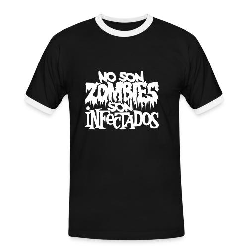 No son Zombies son Infectados - Camiseta contraste hombre