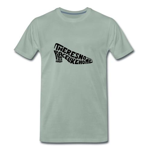 not in kansas - dark text - Men's Premium T-Shirt