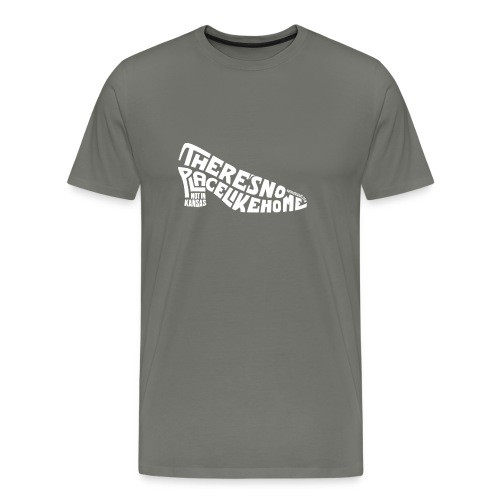 not in kansas - light text - Men's Premium T-Shirt