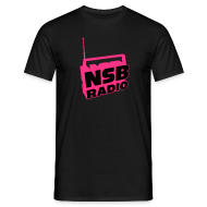 T-Shirts ~ Men's T-Shirt ~ NSB Pink on Black T