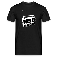 T-Shirts ~ Men's T-Shirt ~ NSB White on Black T