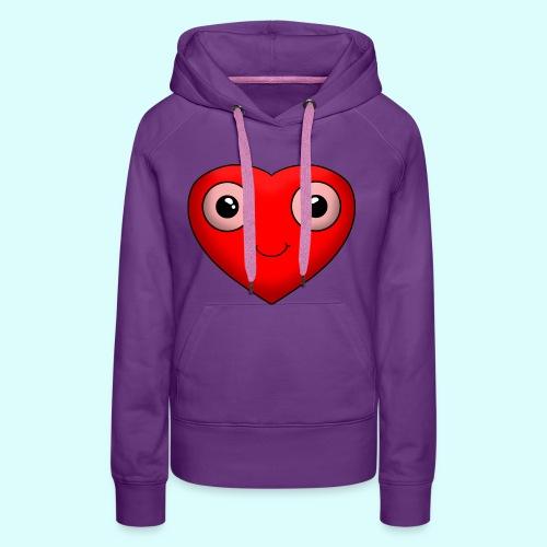 Herz Hoodie für Frauen - Frauen Premium Hoodie