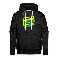 Hoodies & Sweatshirts ~ Men's Premium Hoodie ~ NSB Green and Yellow on Green Hoodie