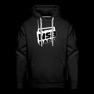 Hoodies & Sweatshirts ~ Men's Premium Hoodie ~ NSB White on Black Hoodie