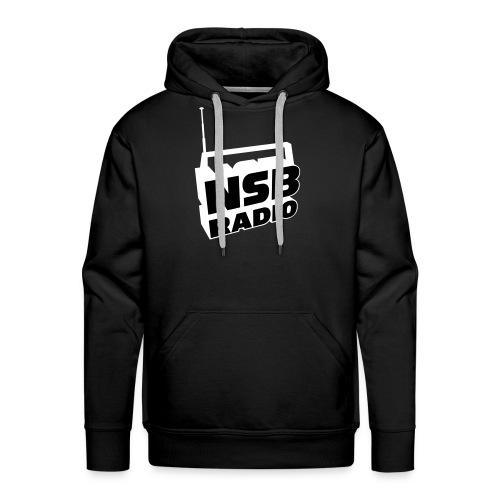 NSB White on Black Hoodie - Men's Premium Hoodie