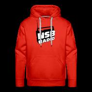Hoodies & Sweatshirts ~ Men's Premium Hoodie ~ NSB Classic on Red Hoodie