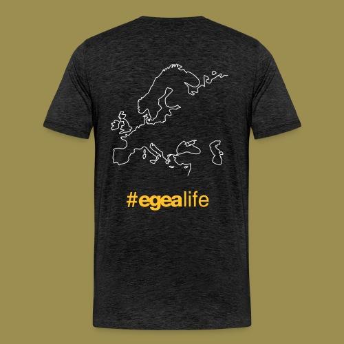 T-Shirt EGEA Travel Map - MEN charcoal - Men's Premium T-Shirt