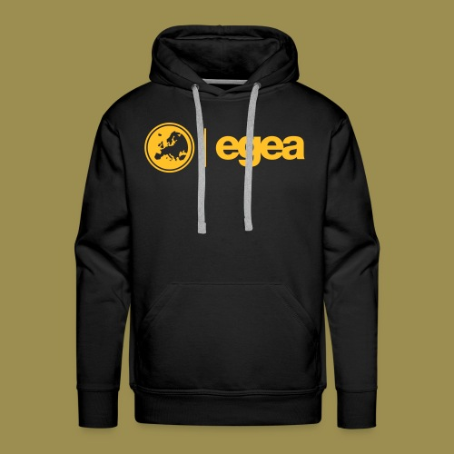 Hoodie EGEA Logo - MEN black - Men's Premium Hoodie