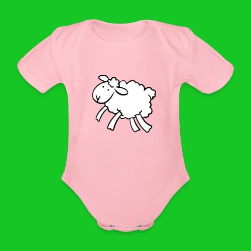 Lammetje rompertje - Baby bio-rompertje met korte mouwen