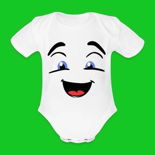 Spookje rompertje - Baby bio-rompertje met korte mouwen