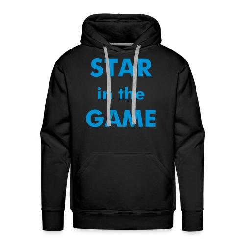 star in the game jumper (blck/blue) - Men's Premium Hoodie