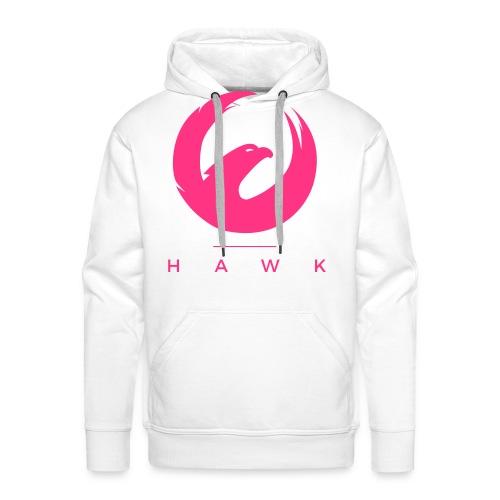 HAWK Clean Pink - Sweat-shirt à capuche Premium pour hommes