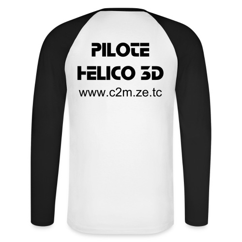 T-Shirt Manches Longues HELICO 3D - T-shirt baseball manches longues Homme