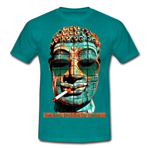 SMOKING BUDDHA - Männer T-Shirt
