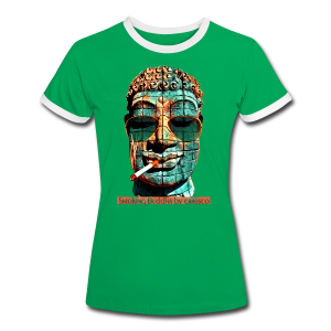 SMOKING BUDDHA - Frauen Kontrast-T-Shirt