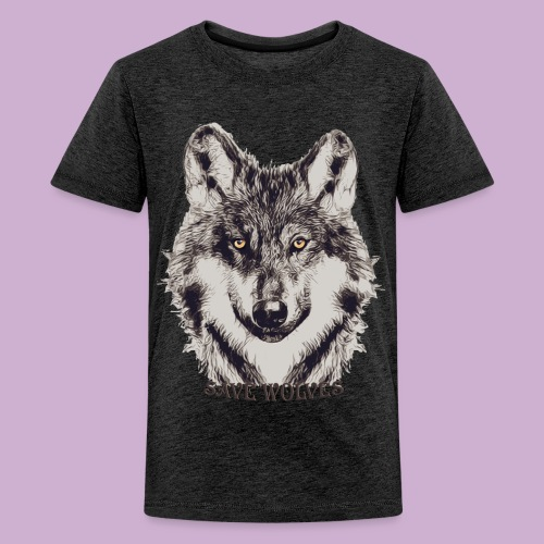 SAVE WOLVES - Teenager Premium T-Shirt