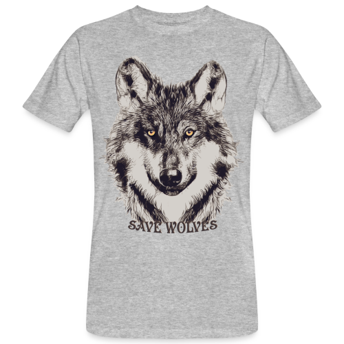 SAVE WOLVES - Männer Bio-T-Shirt